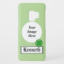 Green Clover Ribbon by Kenneth Yoncich Case-Mate Samsung Galaxy S9 Case