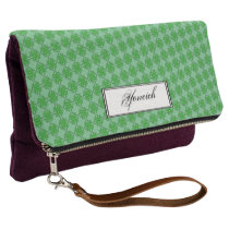 Green Clover Ribbon by Kenneth Yoncich Clutch