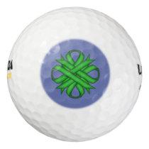 Green Clover Ribbon by Kenneth Yoncich Golf Balls