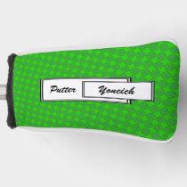Green Clover Ribbon by Kenneth Yoncich Golf Head Cover