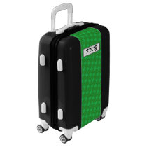 Green Clover Ribbon by Kenneth Yoncich Luggage