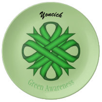 Green Clover Ribbon by Kenneth Yoncich Plate