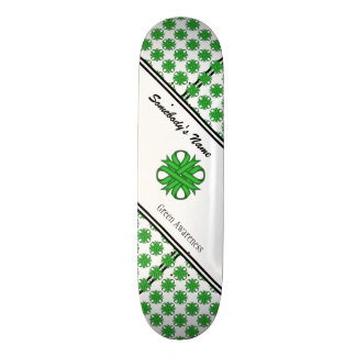 Green Clover Ribbon by Kenneth Yoncich Skateboard Deck