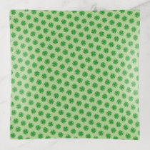Green Clover Ribbon by Kenneth Yoncich Trinket Trays