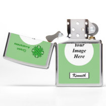 Green Clover Ribbon by Kenneth Yoncich Zippo Lighter