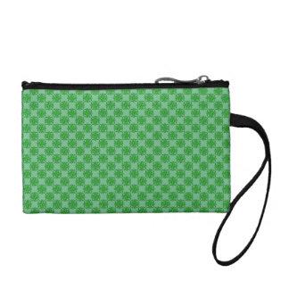 Green Clover Ribbon Coin Wallet