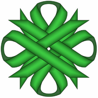 Green Clover Ribbon Cutout