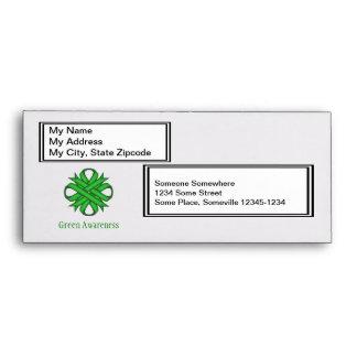 Green Clover Ribbon Envelope