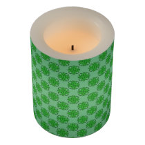 Green Clover Ribbon Flameless Candle