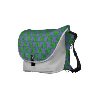 Green Clover Ribbon Messenger Bag
