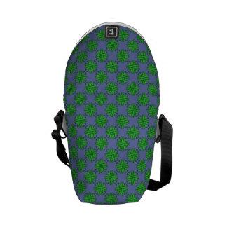 Green Clover Ribbon Messenger Bag