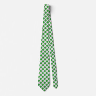 Green Clover Ribbon Neck Tie