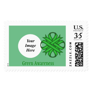 Green Clover Ribbon Postage