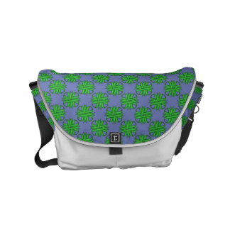Green Clover Ribbon Small Messenger Bag