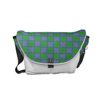Green Clover Ribbon Small Messenger Bag
