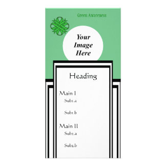 Green Clover Ribbon Template