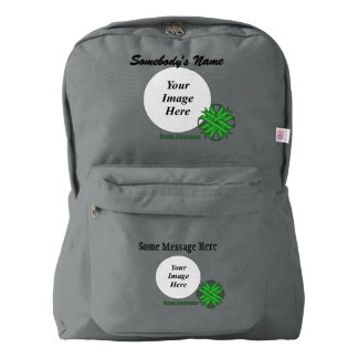Green Clover Ribbon Template Backpack
