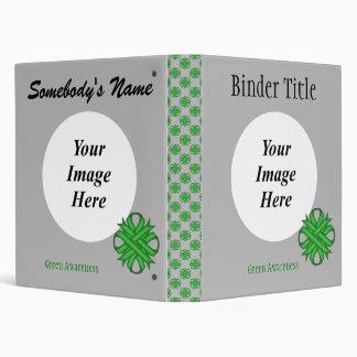 Green Clover Ribbon Template Binder