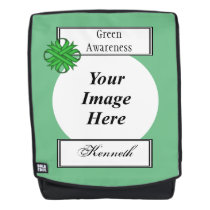 Green Clover Ribbon Template by Kenneth Yoncich Backpack