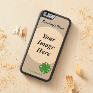 Green Clover Ribbon Template by Kenneth Yoncich Carved Maple iPhone 6 Bumper Case