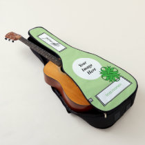 Green Clover Ribbon Template by Kenneth Yoncich Guitar Case