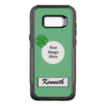 Green Clover Ribbon Template by Kenneth Yoncich OtterBox Commuter Samsung Galaxy S8  Case