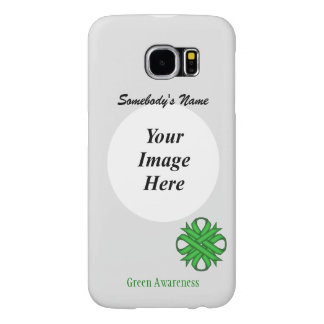 Green Clover Ribbon Template Samsung Galaxy S6 Cases