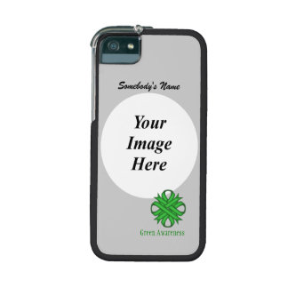 Green Clover Ribbon Template iPhone 5/5S Cases
