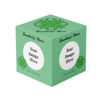 Green Clover Ribbon Template Cube