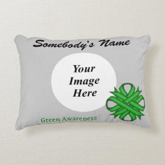 Green Clover Ribbon Template Decorative Pillow