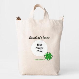 Green Clover Ribbon Template Duck Bag