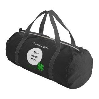 Green Clover Ribbon Template Duffle Bag