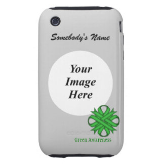 Green Clover Ribbon Template iPhone 3 Tough Cover