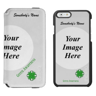 Green Clover Ribbon Template iPhone 6/6s Wallet Case