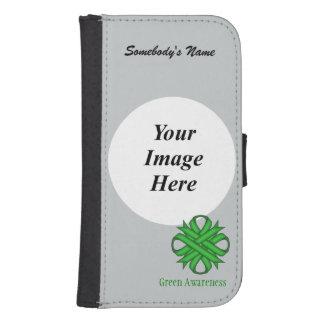Green Clover Ribbon Template Phone Wallets