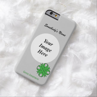 Green Clover Ribbon Tmpl by Kenneth Yoncich Barely There iPhone 6 Case