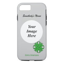 Green Clover Ribbon Tmpl by Kenneth Yoncich iPhone 8/7 Case