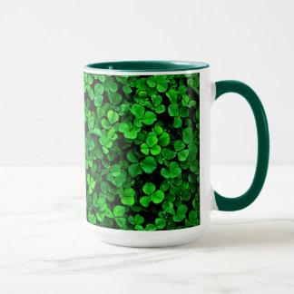 Green clover shamrocks irish ireland mug