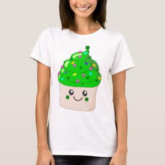 Green Clover St Patricks Day Cute Cupcake T-Shirt