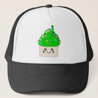 Green Clover St Patricks Day Cute Cupcake Trucker Hat