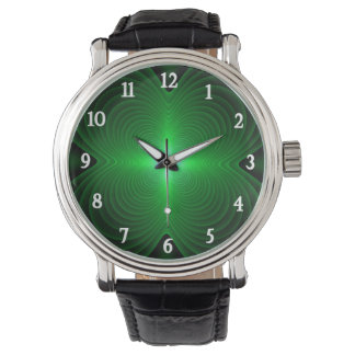 Green Clover Wrist Watch