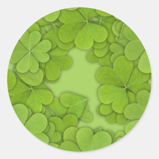 Green Clovers Classic Round Sticker
