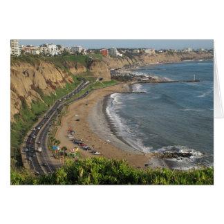 Green Coast beach in Lima-Peru Card