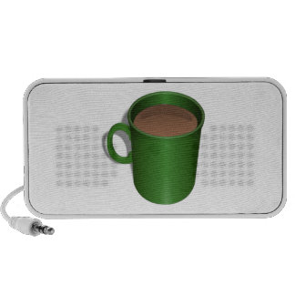Green Coffee Cup Mp3 Speakers