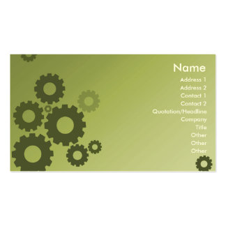 Green Cogs - Business Double-Sided Standard Business Cards (Pack Of 100)