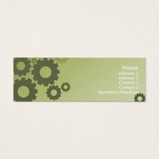 Green Cogs - Skinny Mini Business Card