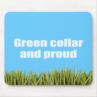 Green collar and proud mouse pad