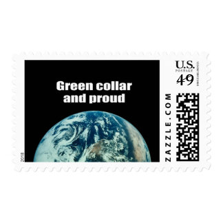 Green collar and proud postage