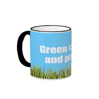 Green collar and proud ringer coffee mug