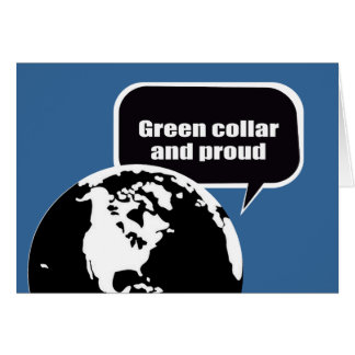 Green collar and proud stationery note card